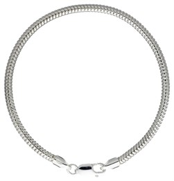 Schlangenarmband dick 3 mm 925er Silber