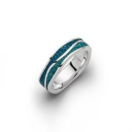 """Ring """"Meeresblau schmal"""""""