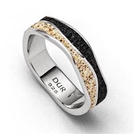 "Ring ""Welle Sand/Lavasand"""