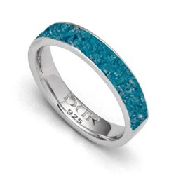 "Ring ""Marina"" blauer Steinsand"