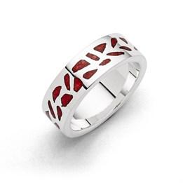 """Ring """"Wandel"""" Mosaik Koralle"""