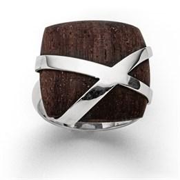 """Ring """"Schatztruhe groß"""" Holz"""