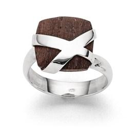 """Ring """"Schatztruhe klein"""" Holz"""