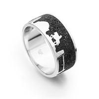 """Ring """"Oldenburg"""" Lavasand rhodiniert 925er Silber"""