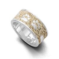 """Ring""""Lucky Dog"""" Strandsand rhodiniert 925er Silber"""